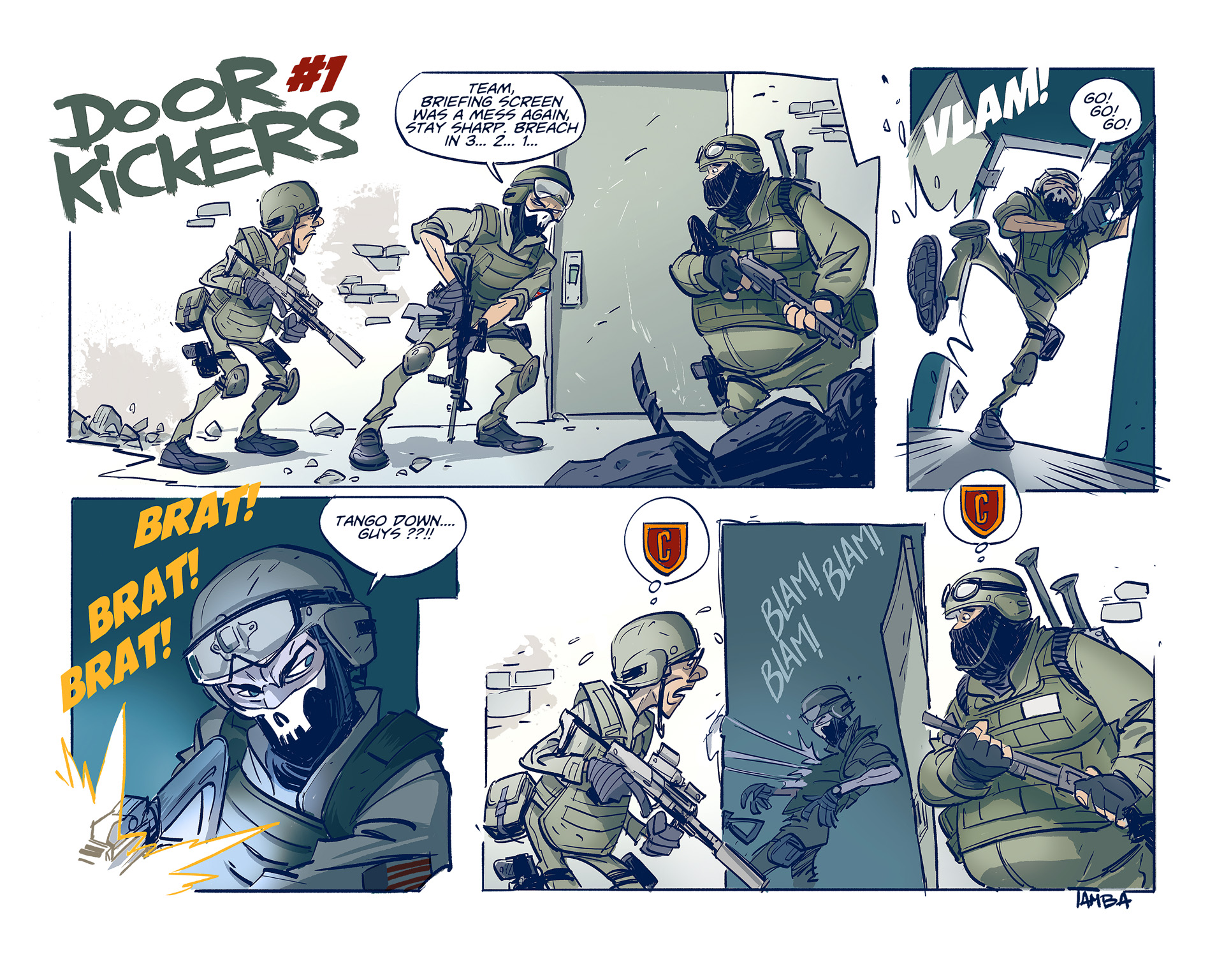 DoorKickers Comic Strip 1